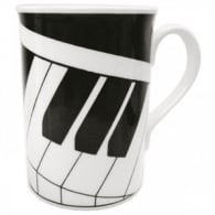 Music Gifts Company 2D Keyboard Bone China Mug