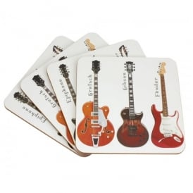 Leonardo 6 Guitars Coaster Set of 4