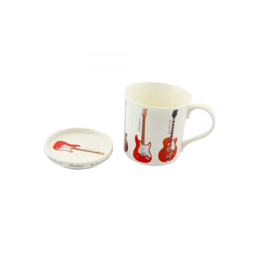 Leonardo 6 Guitars Mug & Coaster Set