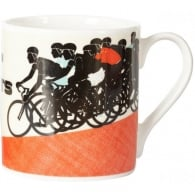 Buttercup China A Pelaton Of Cyclists Bone China Mug