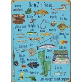 Original Metal Sign Company A-Z of Fishing Fridge Magnet