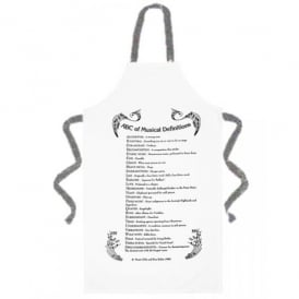 Music Gifts Company ABC of Music Kitchen Apron