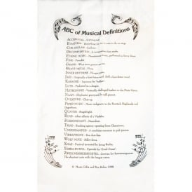 Music Gifts Company ABC Of Music Tea Towel