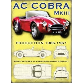 Original Metal Sign Company AC Cobra Mk 3 Fridge Magnet