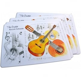 Little Snoring Acoustic Guitar Placemats Set of 4