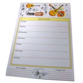 Little Snoring Acoustic Guitar Weekly Planner Pad