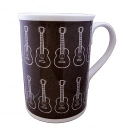 Music Gifts Company Acoustic Guitars Bone China Mug