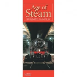 Salmon Art Age Of Steam Slim Calendar 2017