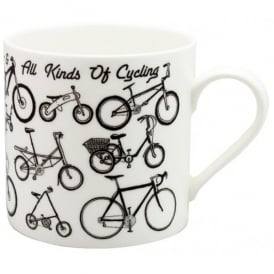 McLaggan Smith All Kinds Of Cycling Large Mug
