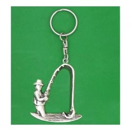 David Hindwood Angler Pewter Keyring