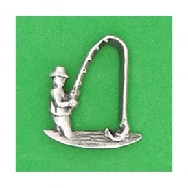 David Hindwood Angler Pewter Lapel Pin