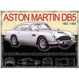 Original Metal Sign Company Aston Martin DB5 Tin Sign