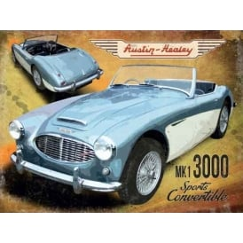Original Metal Sign Company Austin Healey MK1 3000 Drop Top Tin Sign