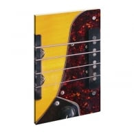 Cubic Bass Guitar Notebook - Live Fast Scribe Young