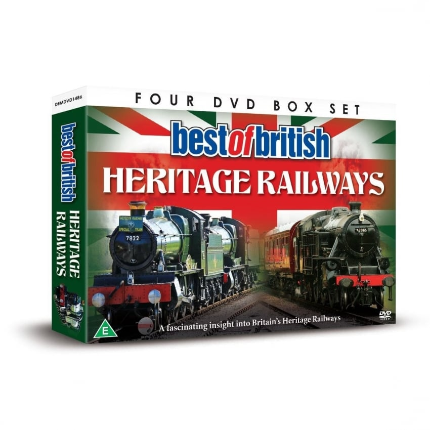 Demand Media Best Of British Heritage Railways 4 x DVD Gift Set