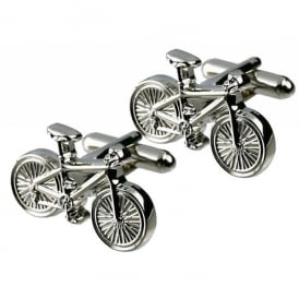 Onyx-Art Bicycle Cufflinks