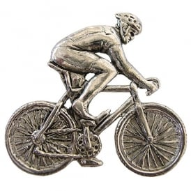 Element Gifts Bicycle Pewter Pin Badge