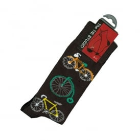 Tie studio Bicycle Socks in Black