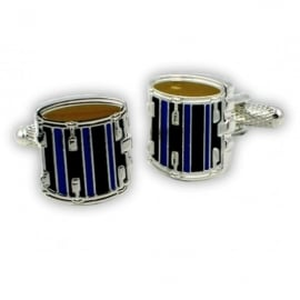 Onyx-Art Black Drum Cufflinks