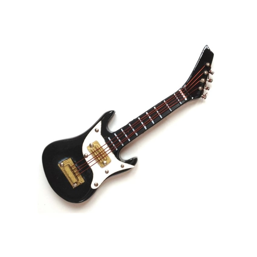 Music Gifts Company Black Electric Guitar Fridge Magnet