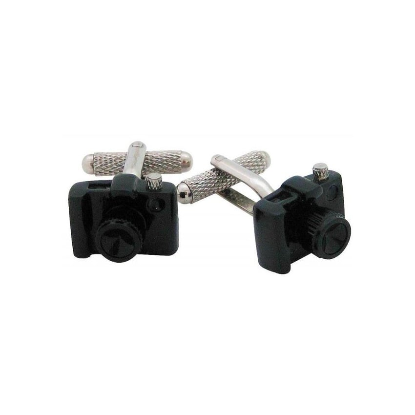 Onyx-Art Black SLR Camera Cufflinks