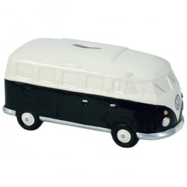 Elgate Black & White VW Campervan Money Box