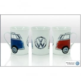 Elgate Blue and Red VW Campers Photographic Mug