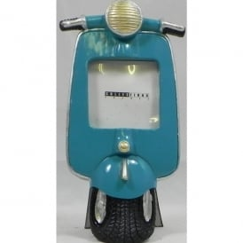 Giftworks Blue Scooter Small Photo Frame