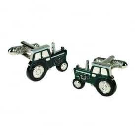 Onyx-Art Blue Tractor Cufflinks