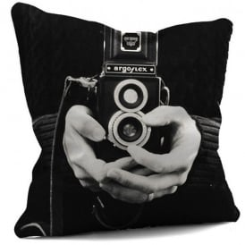 House Of Cushions Camera Aperture Filled Cushion