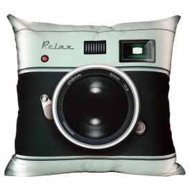Bubblegum Stuff Camera Retro Filled Cushion