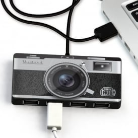 Just Mustard Camera  Style Four Port USB Hub