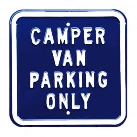 Red Hot Lemon Camper Van Parking Only Metal Sign