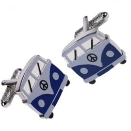 Onyx-Art Campervan Blue Cufflinks