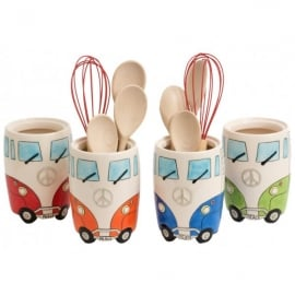 Giftworks Campervan Ceramic Utensil Holder