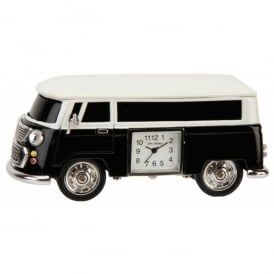 Widdop Campervan Miniature Desk Clock in Black