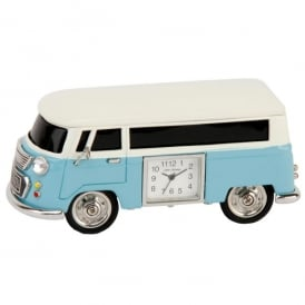 Widdop Campervan Miniature Desk Clock in Blue