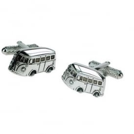 Onyx-Art Campervan Rhodium Cufflinks