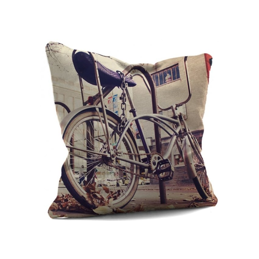 House Of Cushions Chopper Vintage Bike Filled Cushion