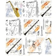 Little Snoring Clarinet and Sax Gift Wrap