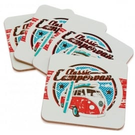 Elgate Classic VW Campervan Coasters - Set of 4