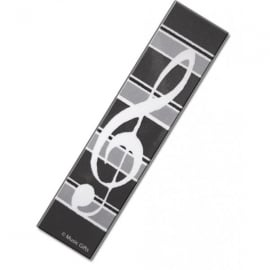Music Gifts Company Clef with Grey Stripes Bookmark