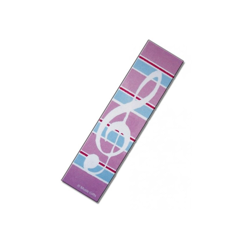 Music Gifts Company Clef with Pink Stripes Bookmark