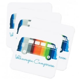 Elgate Coloured Stripes VW Campervan Coasters - Set of 4