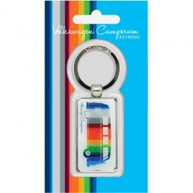 Elgate Coloured Stripes VW Campervan Keyring