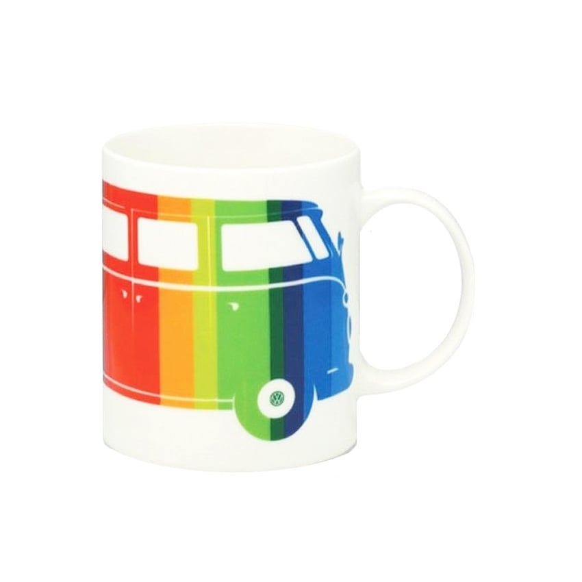 Elgate Coloured Stripes VW Campervan Mug