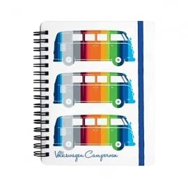 Elgate Coloured Stripes VW Campervan Notepad