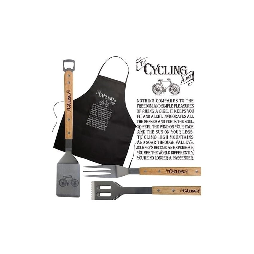 Arora Design Cycling Barbeque and Black Apron Set