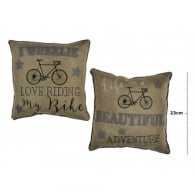 Richard Langs Cycling Cushion - I Wheelie Love Riding My Bike