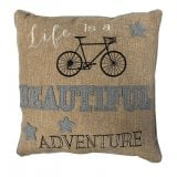 Richard Langs Cycling Cushion - Life Is A Beautiful Adventure